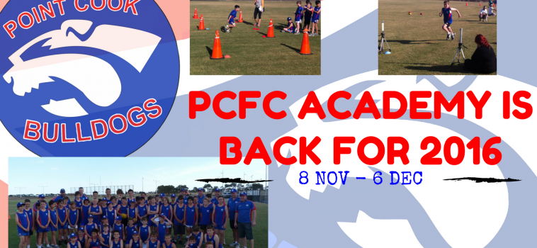 PCFC ACADEMY IS BACK FOR 2016