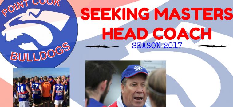 SEEKING MASTERS HEAD COACH FOR SEASON 2017